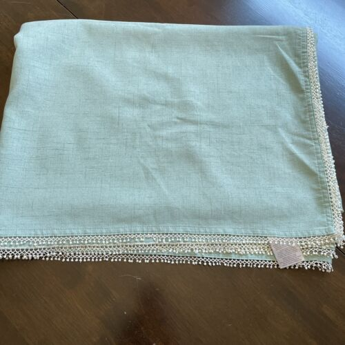Lenox teal Ice blue French Perle tablecloth