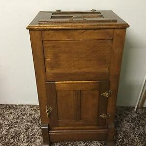 Antique wooden ice chest/fridge West Moonah Glenorchy Area Preview