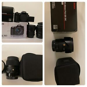 Canon 70D for sale +Sigma35mm + Sigma 10-20mm f3.5 EX DC HSM
