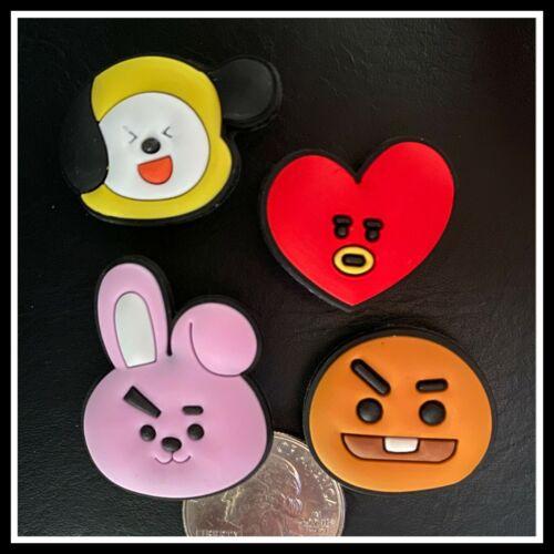 4 Shoe Charms for Crocs LINE FRIENDS BTS BT21 K-pop Cooky Tata Chimmy Shooky