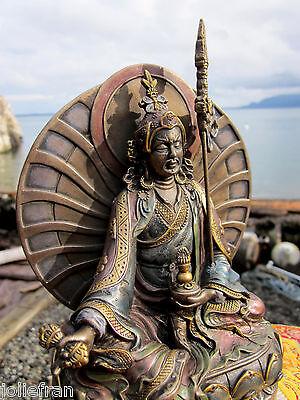 GLORIOUS TIBETAN BUDDHIST PADMASAMBHAVA GURU RINPOCHE STATUE PROTECTIVE GIFT BOX