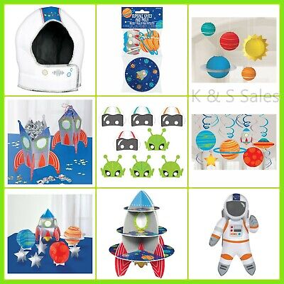 BLAST OFF Space Party Decorations Rocket Wall Table Masks Astronaut Helmet Stand](Party Rocket)