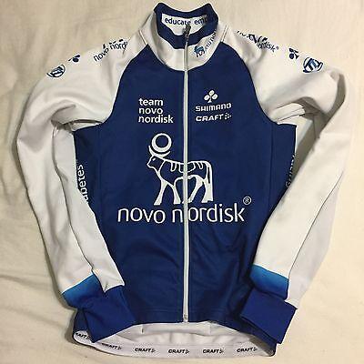 Mens 2016 Craft Novo Nordisk Pro Cycling Thermal Softshell Jacket  Blue  Xs Euc