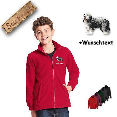 Collie Embroidered Fleece - Children - Fleece Jacket Embroidered Dog
