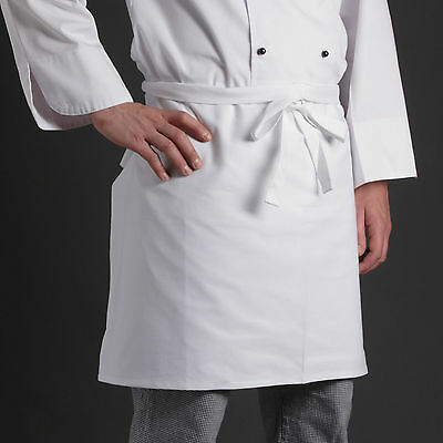 Vorbinder 2 Schürzen Berufsbekleidung 60x80cm Weiss 100 % Baumwolle Kochschürze