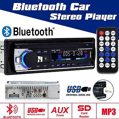 12V Fm Car Stereo Radio Bluetooth In Dash Handsfree Sd Usb Aux Head Unit