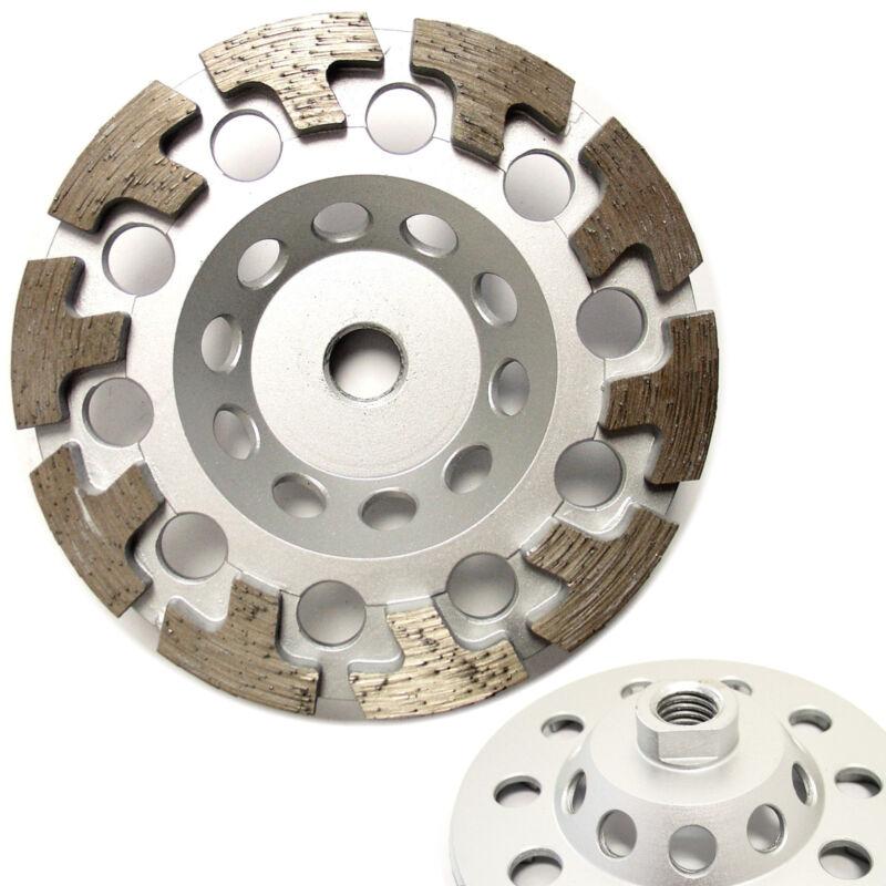 "5"" Premium Diamond Cup Wheel T-segment for Concrete Stone Grinding 5/8""-11 Arbor"