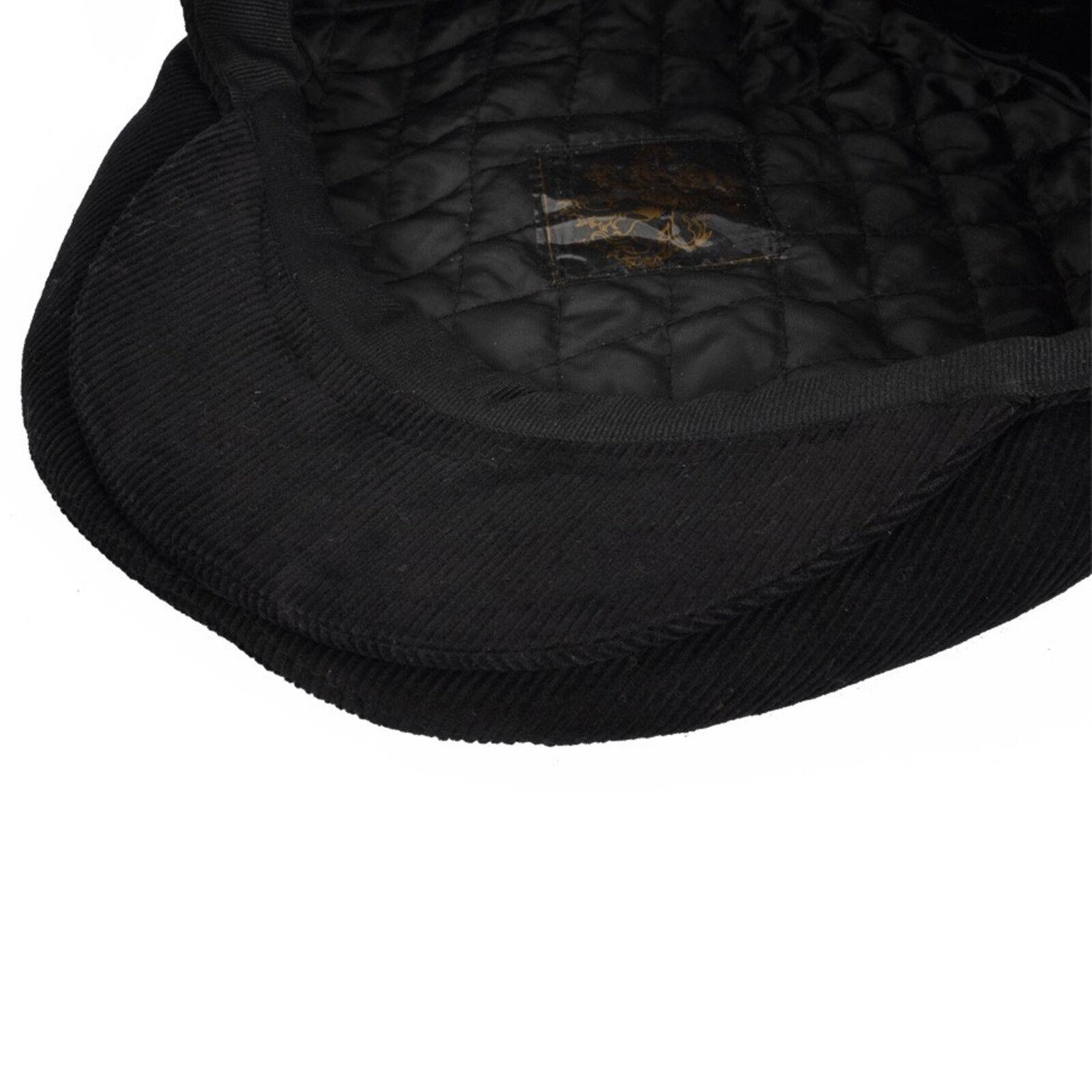 Unisexe Cordon Summer Style Préformé Pic Plat Casquette Pays en velours côtelé chapeau