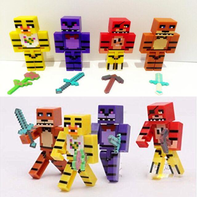 4 x Five Nights at Freddys FNAF Figures Set Bonnie Chica Foxy Fazbear Plastic