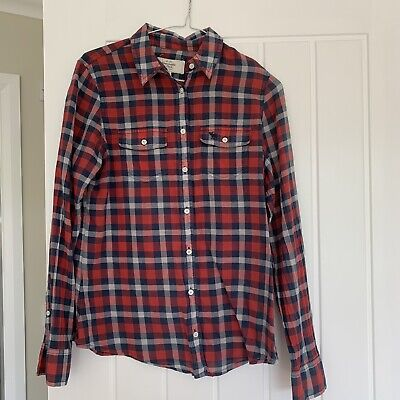 abercrombie and fitch Plaid Button Shirt Womens M