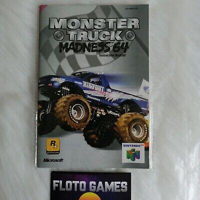 Notice de Monster Truck Madness 64 pour Nintendo 64 N64 PAL EUR - Floto Games