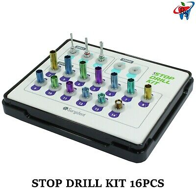 Dental Implant Surgical Crestal Sinus Approach 3 Drill 13 Stopper Kit