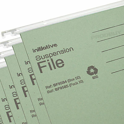 20 x Green A4 Hanging Suspension Files Tabs Inserts Filing Cabinet Folders Set