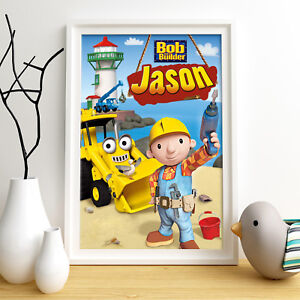 BOB THE BUILDER Personalised Poster A4 Print Wall Art Fast Delivery ✔