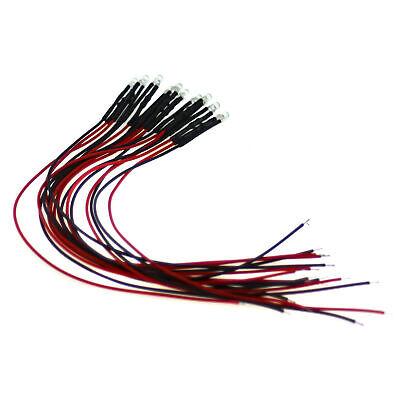50 x LED Pre wired 12v 3mm Red Flashing Blinking Strobe LEDs 12 volt RC 6v 9v