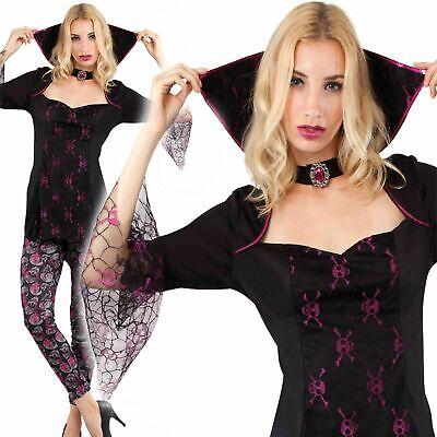 Erwachsene Gothic Totenkopf Vampir Königin Damen Kostüm - Erwachsene Vampir Halloween Kostüme