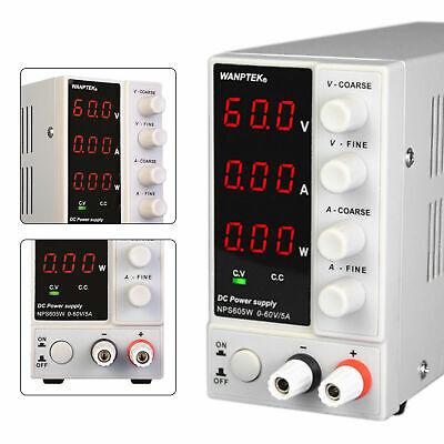 0-60v 0-5a 110v Variable Adjustable Dc Bench Power Supply Fits Lab Equipment Usa