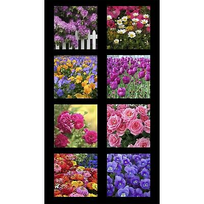 Rose Tulip Digitally Printed Cotton Fabric Garden Of Life Kona 24