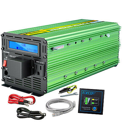 3000 Watt 6000W Power Inverter 12V DC to 120V AC LCD display