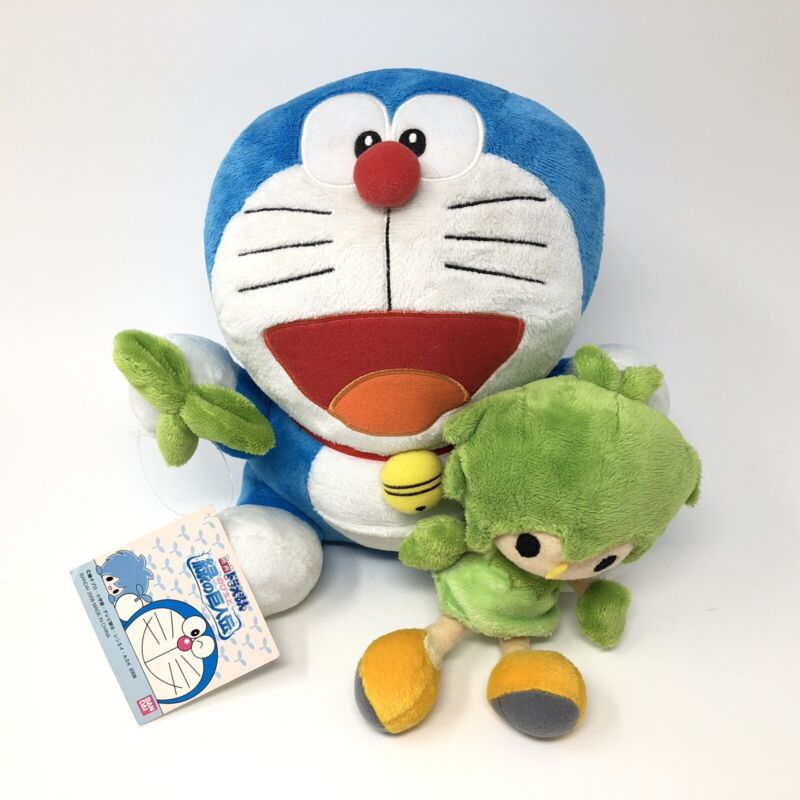 "Doraemon & Kibo Plush - Bandai ShoPro 8"" Tags Japan Imported"