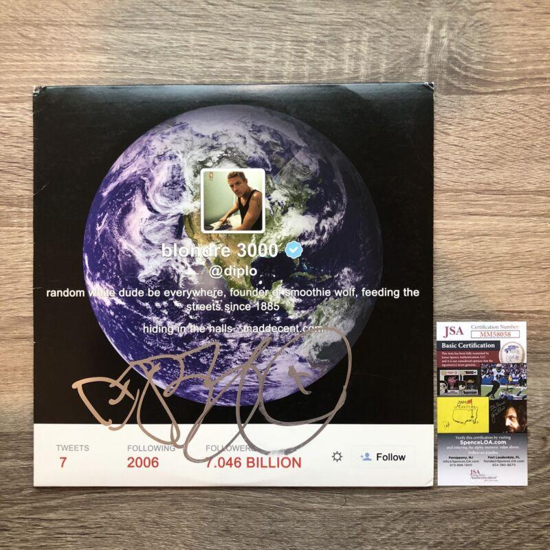 """Diplo Autographed Random White Dude Vinyl 12"""" Record LP JSA (Skrillex Illenium)"""