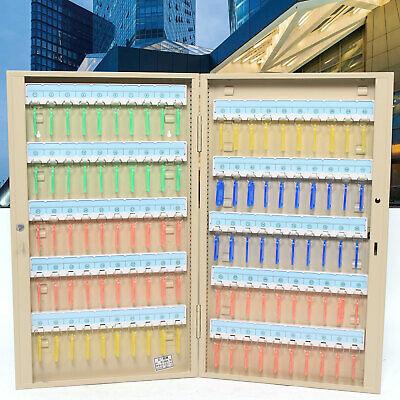 Wall Mount Key Organizer Cabinet 100 Keys Storage Metal Security Safe Box Home