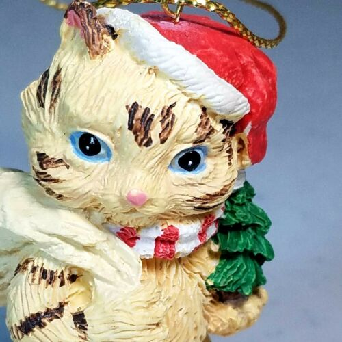 """Cat Christmas Ornament  Heritage Mint Holiday Collection Santa Cat 2.75"""""""