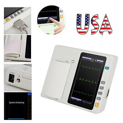 Us 712-lead Digital 3channel Electrocardiograph Ecgekg Machine Interpretation