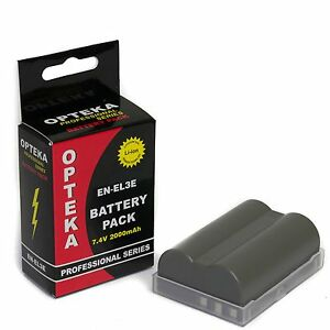 Opteka EN-EL3E 2000mAh Ultra High Capacity Li-ion Battery Pack for Nikon