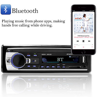 Bluetooth Car Stereo Audio In-Dash FM Aux Input Receiver SD USB MP3 Radio Player 3