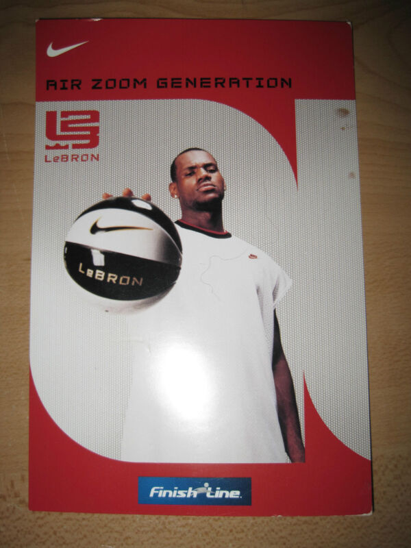 Nike Collectors Card Air Zoom Generation LeBron James Cleveland Cavaliers NBA