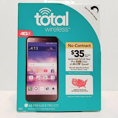 "Total Wireless LG Premier Pro 16GB Prepaid Smartphone 5.3"" Black Cell Phone 8MP"