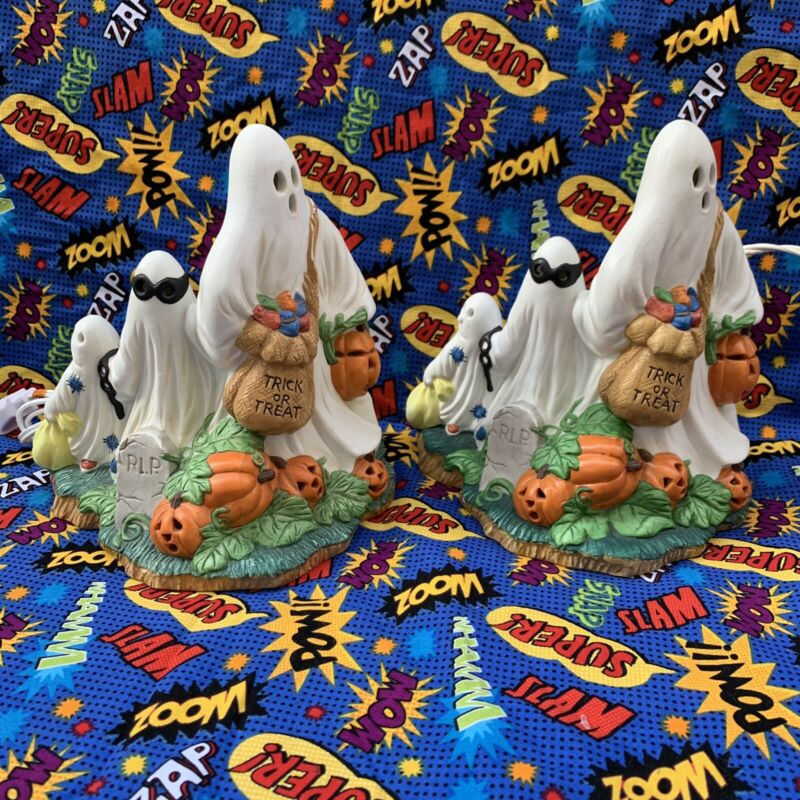 Prettique Designs Itty Bitty Boo Lighted Halloween Figurine Ghost Trick Or Treat