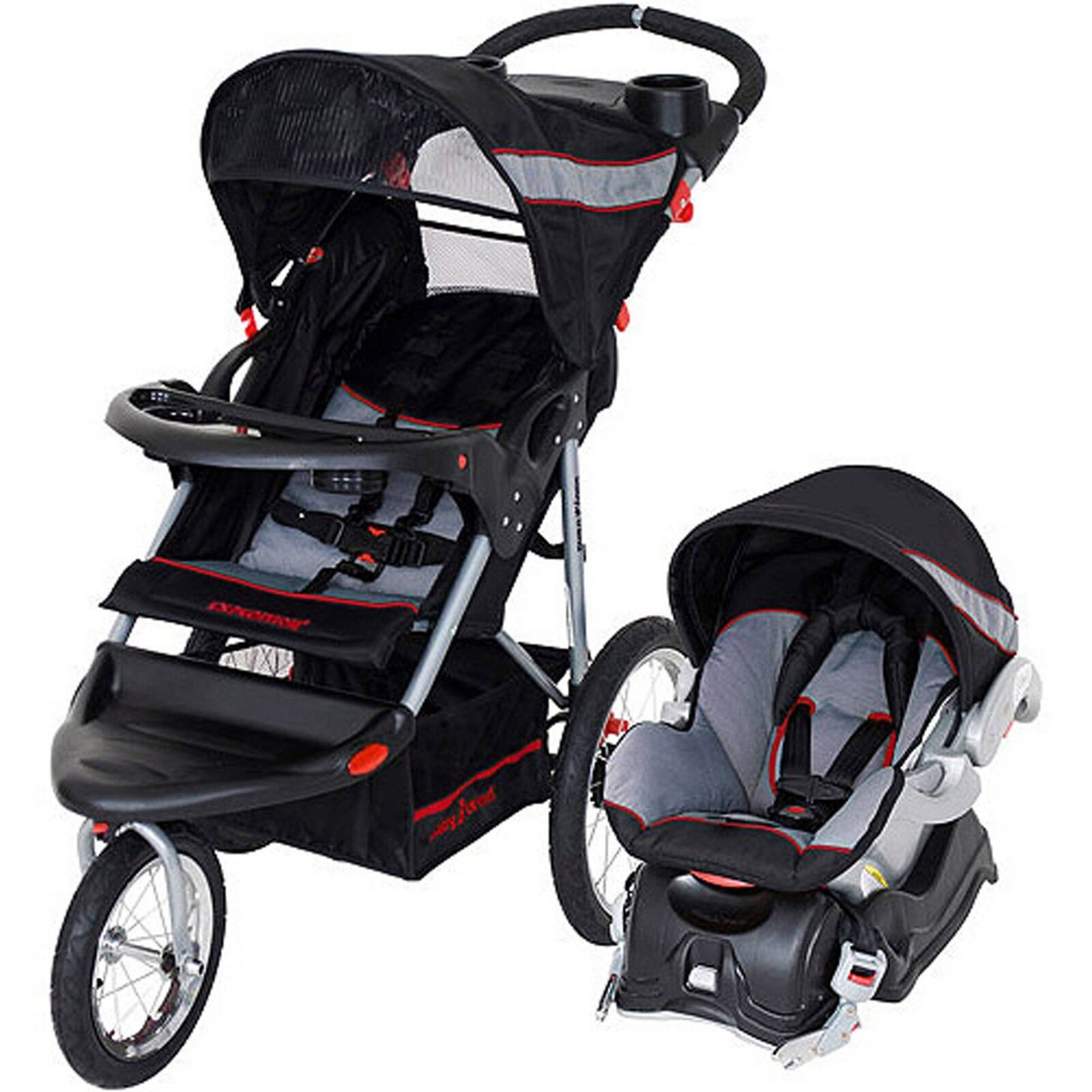 Jogging Stroller Car Seat Combo Travel System 3 In 1 Baby Tr