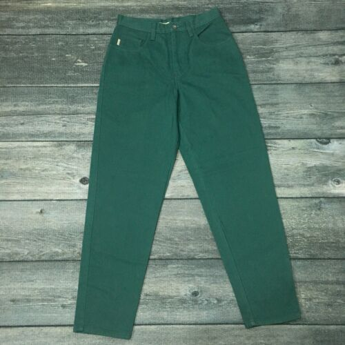 New with Tags Vintage ESPRIT Green Jeans High Waist Mom Pants Size 9/10 Cotton