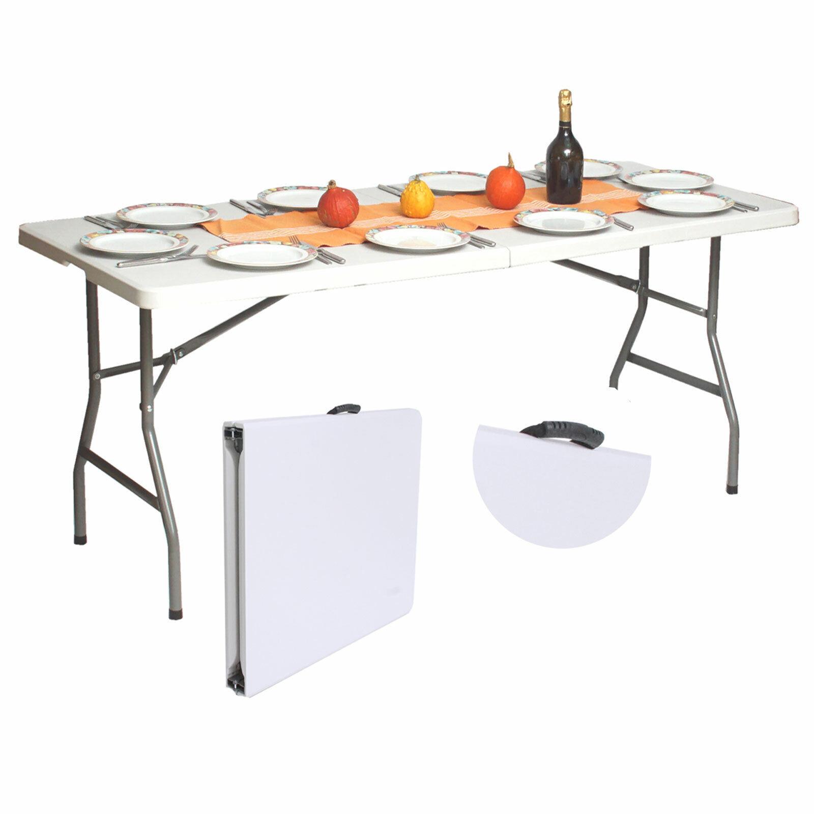 Campingtisch Gartentisch Buffettisch Esstisch Klapptisch 180cm klappbar 8 Pers