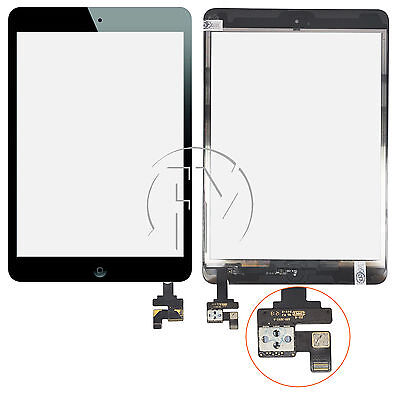 BLACK REPLACEMENT LCD SCREEN TOUCH DIGITIZER GLASS WITH IC FOR IPAD MINI