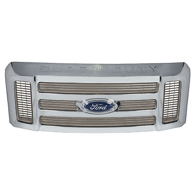 Super Duty Grille Assembly (OEM NEW Front Grille Assembly w/ Emblem KING RANCH Chrome Super Duty 7C3Z8200BB )