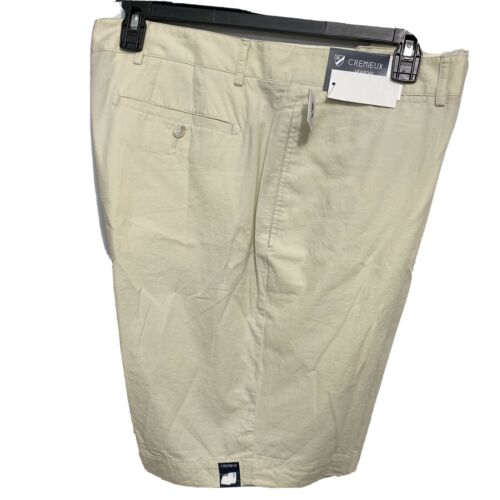 """Cremieux Mens Chino Shorts Newport 40 Stone Cotton Lightweight Flat Front 9"""" Clothing, Shoes & Accessories"""
