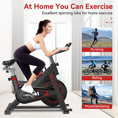 Indoor Exercise Bike Cycling Bicycle Heavy Duty Cardio Fitness Workout Machine