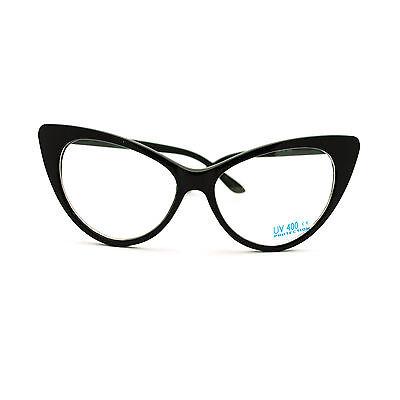 Mod Womens Retro 20s Classic Vogue Chic Cat Eye Clear Lens Eye Glasses (Vogue Cat Eye)