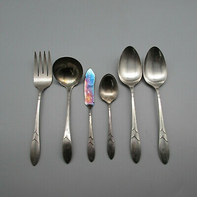 """Details about  /Oneida Stainless Flatware Heritage 2 Serving Spoons 8 1//8/"""""""