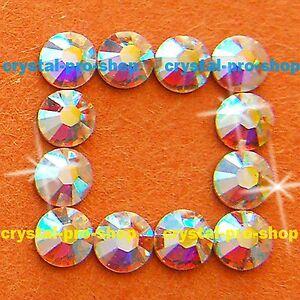 AB-Crystal-Clear-Iron-On-Flatback-Hotfix-Rhinestones-Glass-craft-Bling-Diam-ante