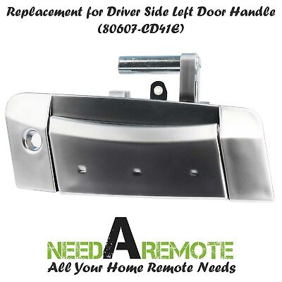 Outside Outer Silver Door Handle For 03-09 Nissan 350Z Passenger Side Right