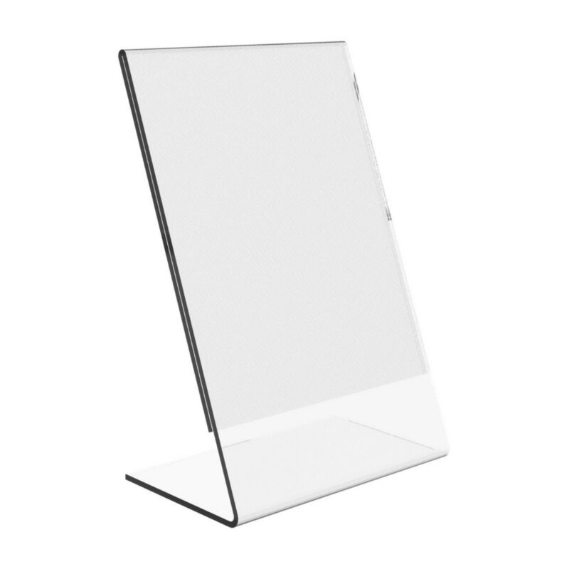 """Dazzling Displays 100 Acrylic 5"""" x 7"""" Slanted Picture Frame Holders"""