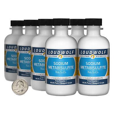 Sodium Metabisulfite 2 Lbs 8 Bottles 99.9 Reagent Grade Fine Powder