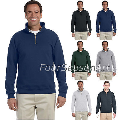 JERZEES SUPER SWEATS  Quarter Zip Pullover Sweatshirt Mens S-3XL 4528MR-4528 ()