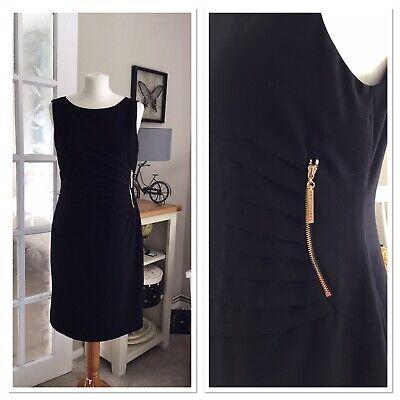 Ivanka Trump Sleeveless Lined Ponte Knit Sheath Black Dress Size 12
