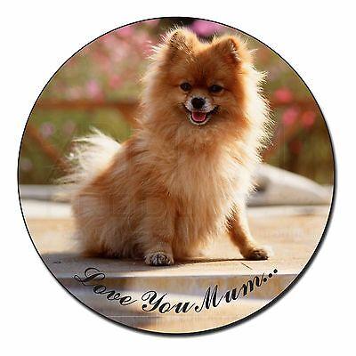Pomeranian Dog 'Love You Mum' Fridge Magnet Stocking Filler Christ, AD-PO89lymFM