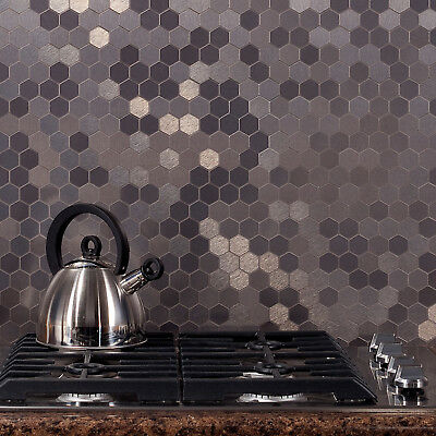Aspect Peel and Stick Backsplash Honeycomb Matted Metal Tile (15 sq ft